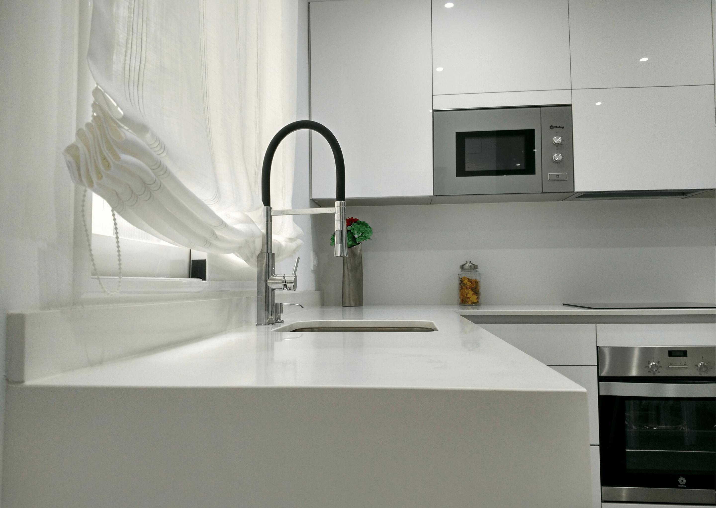 blanco brillo cocina