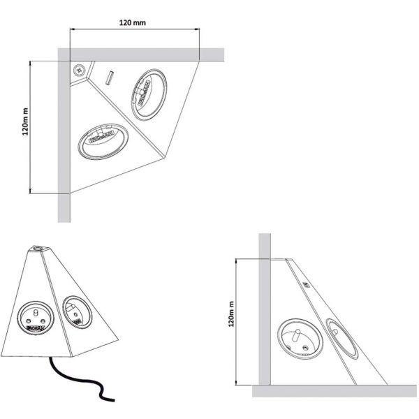 box-angle medidas